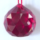 Feng Shui Import Red Hanging Crystal Balls - 1928
