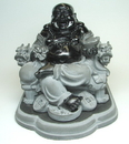 Feng Shui Import Sitting Black Buddha - 2027