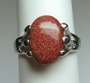 Feng Shui Import Red Goldstone Fashion Rings - 2256