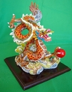 Feng Shui Import Colorful Dragon Statue Flying on Cloud - 260