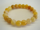 Feng Shui Import Yellow Jade Beaded Bracelet - 2614