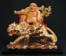Feng Shui Import Laughing Buddha on Tiger - 2634