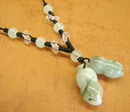 Feng Shui Import Jade Peanut Necklace - 2670