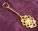 Feng Shui Import Mystic Knot with Coins Keychain - 2772