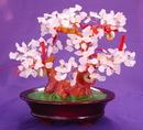 Feng Shui Import Rose Quartz Tree with Coins - 2784