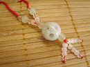 Feng Shui Import Jade Fuk Luk Shou Ball Necklace - 2789