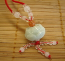 Feng Shui Import Jade Lotus Necklace - 2790