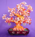 Feng Shui Import Red Carnelian Gem Tree with Coins - 2793