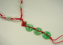 Feng Shui Import 3-Jade-Coin Necklace - 2803