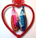 Feng Shui Import Heart Shaped Double Seahorses - 283