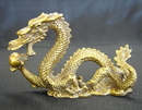 Feng Shui Import Brass Metal Dragon Statue - 2843