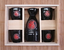 Feng Shui Import Ceramic Black Japanese Saki Set - 2856