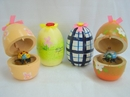 Feng Shui Import 4 of Egg-shape Bamboo Toys - 286