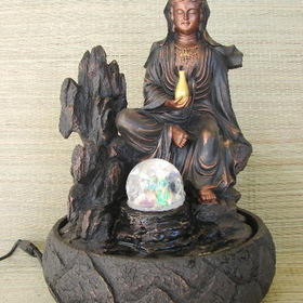 Feng Shui Import Water Fountain with Guan Yin - 2880