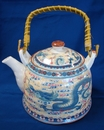 Feng Shui Import Teapot w/ Dragon Pictures - 2963