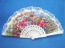 Feng Shui Import White Lace Spanish Hand Fans - 2982
