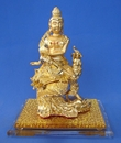 Feng Shui Import Brass Kwan Yin Riding on Phoenix - 3320