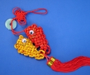 Feng Shui Import Lucky Charm with Double Fishes and Red Tassel - 3328