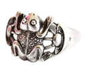 Feng Shui Import Silver Money Frog Ring - 3478