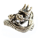 Feng Shui Import Silver Dragon Ring for Men - 3481