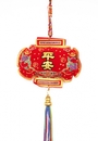 Feng Shui Import Safety Charm with 5-Color Tassels and Strings - 3552