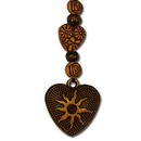 Feng Shui Import Small Heart Charm as Cell Phone Charm - 3587