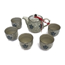 Feng Shui Import Chinese Style Blue Tea Set - 3676