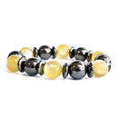 Feng Shui Import Magnetic Bracelet - Yellow and Black - 3751