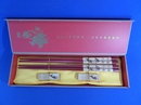 Feng Shui Import Set of Chinese Wooden Chopsticks with Fish Pictures - 3959