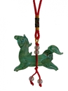 Feng Shui Import Green Glass Horse Charm - 4084