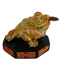 Feng Shui Import Golden Money Frog on BaGua - 4144