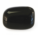Feng Shui Import Black Obsidian Tumbled Polished Natural Stone - 4240