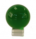 Feng Shui Import Green Crystal Ball with Crystal Stand  - 4534