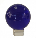 Feng Shui Import Blue Crystal Ball with Crystal Stand  - 4535