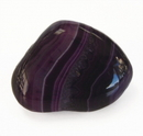 Feng Shui Import Purple Agate Tumbled Polished Natural Stone - 4543