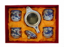 Feng Shui Import Chinese Style Tea Set with Dragon Phoenix Pictures - 4621
