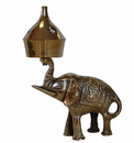 Feng Shui Import Brass Incense Oil Burner with Elephant - 4627