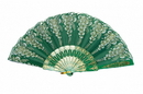 Feng Shui Import Green Hand Fan - 4650