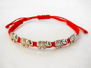 Feng Shui Import 4758 Red Bracelet with 5 Elephant Charms