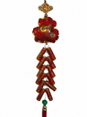 Feng Shui Import 4770 New Year Charm - Money Bag with Lucky Firecracker