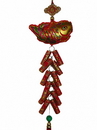 Feng Shui Import 4771 New Year Charm - Fish with Lucky Firecrackers