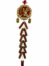 Feng Shui Import 4772 New Year Charm - Wealthy God Bagua with Lucky Firecrackers
