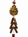 Feng Shui Import 4773 New Year Charm - Wealthy God with Lucky Firecrackers