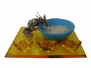 Feng Shui Import 4823 Dragon with Water Bowl and Ingots