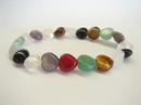 Feng Shui Import Heart Shaped Assorted Stone Bracelet  - 593