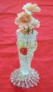 Feng Shui Import Small Glass Vases w/ Flowers - 749