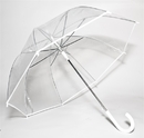Elite Rain Auto-Open Clear Umbrella