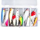 GOGO Plastic Artificial Minnow Baits Kit with Treble Hooks - 10 Pcs