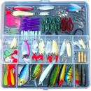 GOGO Fishing Tackle Box, Hard & Soft Baits, Fishing Accessories, 131 Pcs