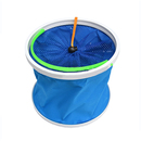 GOGO Canvas Collapsible Fishing Bucket With 3.2 Feet Rope, Fishing Accessory